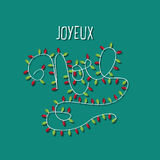 Noel decorated hand-drawn Christmas typography Royalty Free Stock Images