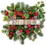Noel Decoration joyeux Photo stock