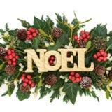 Noel Decoration joyeux Images libres de droits