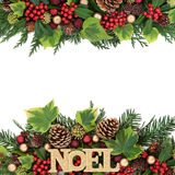 Noel Decorative Border Photo libre de droits