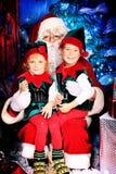 Noel e duendes Foto de Stock Royalty Free