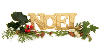 Noel Glitter Decoration Stock Images