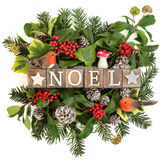 Noel Greeting Sign stockbild