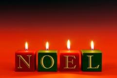 NOEL-Kerzen lizenzfreie stockfotografie