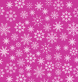 Noel pink wallpaper, snowflakes texture Stock Images