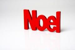Noel rosso Immagini Stock