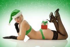 Noel sexy dans la lingerie Photographie stock