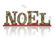 Noel Sign. A Christmas noel sign over a white background Stock Photography