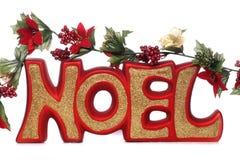 Noel Weihnachtsdekoration Lizenzfreies Stockbild