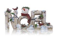 Noel Weihnachtszeichen Lizenzfreie Stockbilder