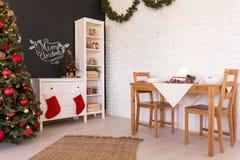 Noel-Wohnzimmerdekoration lizenzfreies stockbild