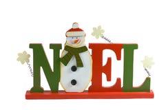 Noel Zeichen auf weißem Hintergrund. Stockbild