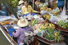 Noen Saduak Floating Market - Thailand Stock Photography