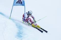 NOESIG Christoph nel Gia di Men's della tazza di Audi Fis Alpine Skiing World Fotografie Stock Libere da Diritti