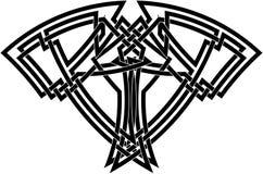 Noeud celtique dans le noir   Photo libre de droits
