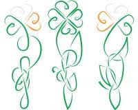 Noeud celtique de l'Irlande d'oxalide petite oseille Photographie stock