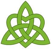 Noeud celtique de trinité avec un coeur Photographie stock libre de droits