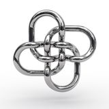 Noeud complexe de tuyaux en métal Photo libre de droits
