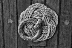 Noeud décoratif de corde Images stock