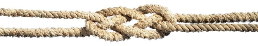 Noeud dans une corde d'isolement photos stock