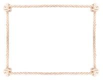 Noeud de cadre de corde Photographie stock libre de droits