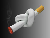 Noeud de cigarette Image stock