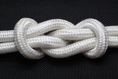 Noeud de corde Photographie stock libre de droits