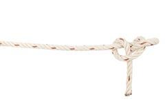 Noeud de corde d'isolement sur le fond blanc Images stock