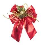 Noeud de proue de décoration de Noël Photo stock