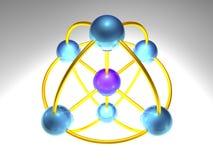 noeud de réseau 3D illustration de vecteur