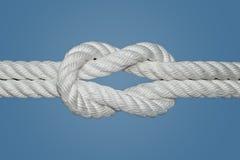 Noeud de récif ou noeud carré Image stock