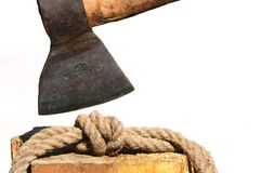 Noeud Gordian - pour couper le noeud Gordian Images libres de droits