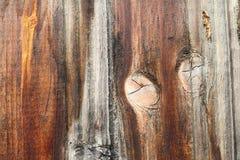 Noeud intéressant sur la texture en bois Photo libre de droits