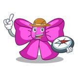 Noeud papillon d'explorateur dans la conception de personnages à la mode illustration stock