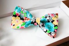 Noeud papillon dans le boîte-cadeau Photo stock