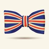 Noeud papillon de drapeau de la Grande-Bretagne Image libre de droits