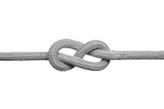 Noeud sur la corde. Image libre de droits
