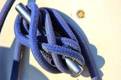 Noeud sur un bateau à voile Image stock