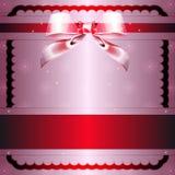 Noeud transparent et bande rouge Illustration Stock