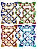 Noeuds celtiques de paires Images libres de droits