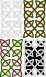 Noeuds celtiques de paires Photos libres de droits