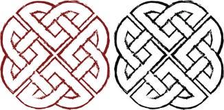 Noeuds celtiques stylisés Images libres de droits