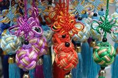 Noeuds décoratifs de broderie Images libres de droits