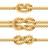 Noeuds de corde Images libres de droits