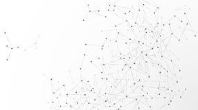 Noeuds de réseau abstraits Noeuds reli?s en Web Structure d'atome de plexus Illustration de vecteur d'isolement sur le fond blanc illustration stock