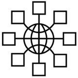 Noeuds de réseau global Images libres de droits