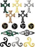 Noeuds et symboles celtiques Photographie stock libre de droits