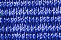 Noeuds nets de bleu de texture de détail de bâteau de pêche macro Photographie stock libre de droits