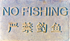 NoFishing sign. Royalty Free Stock Images
