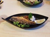Nog beeld van Japanse geroosterde makreelvissen - Saba-shioyaki Royalty-vrije Stock Fotografie